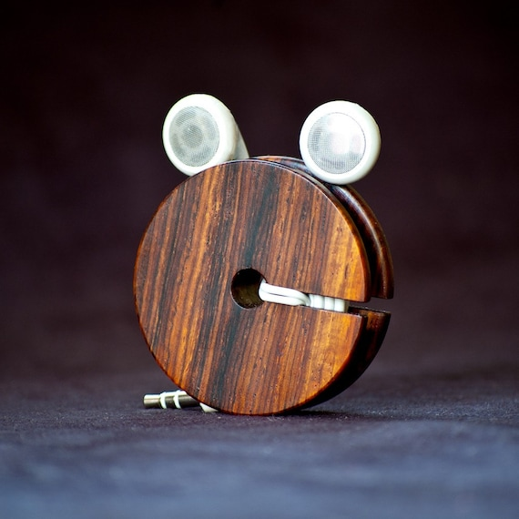 Wood Earbud Holder / Earphone Organizer - Cocobolo