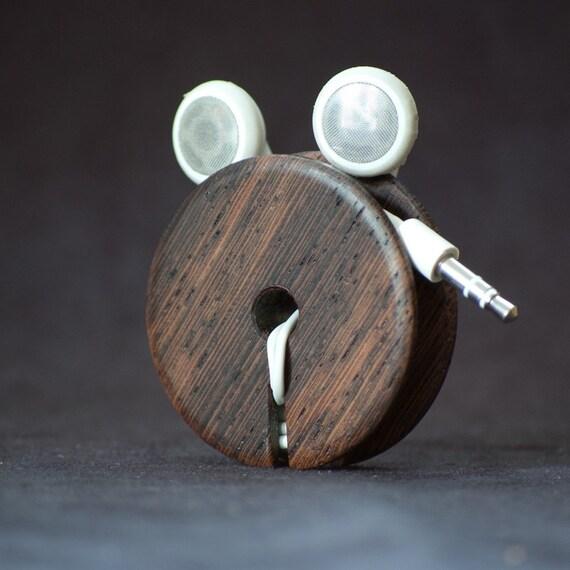 Wood Ear bud holder - Wenge (Quartersawn)