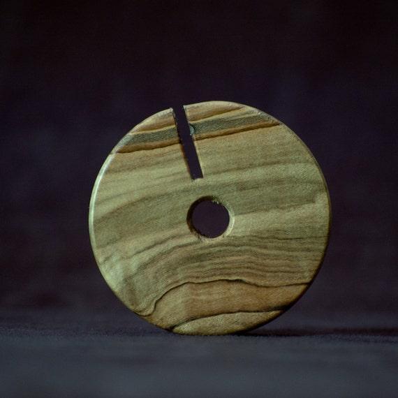 Wood Headphone Wrap / Earbud Holder / Earphone Case - Ambrosia Maple