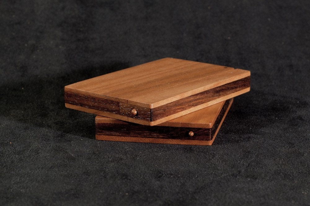 Wood Business Card Holder and Credit Card Case Sapele and