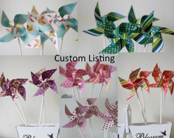 Bulk Escort Cards Wedding/Birthday decor/favors 50 mini Pinwheels (Custom orders welcomed)