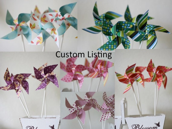 Pinwheels decor/favors Pinwheels (Custom order for Jennifer)