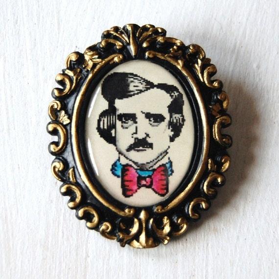 Edgar Allan Poe Brooch
