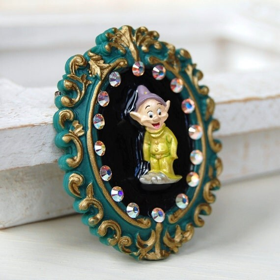 Dopey, Happy and Hopeful Brooch