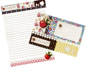 Letter Set Colorful Patchwork Pattern Apple Stripes Dots Vintage