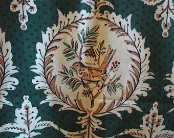 Vintage Tarrytown Schumacher Fabric, Bird Cotton Print Albert Stockdale