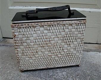 Unique Vintage Shoe Shine Kit, Storage Box with old Polish and Soap Tins