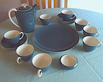 Cameo Glaze Blue Moon Poole Pottery Coffee Tea Demitasse