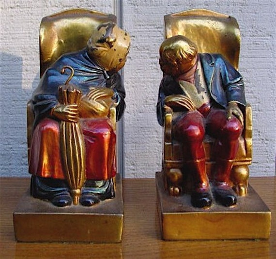 Vintage bookend pair by armor bronze bookends longtime - Armor bronze bookends ...