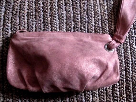 Vintage italian leather wrist bag