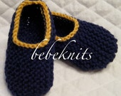 U of M Maize and Blue Clog Style Baby Slippers