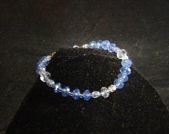 Purple n Clear Crystal Bracelet