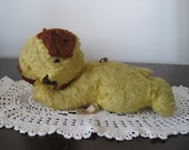 Vintage 1960s Wind Up Stuffed Dog, Ideal Toy Company