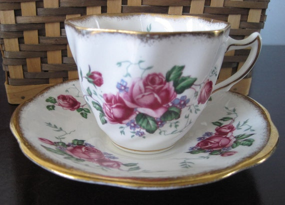 RESERVED for SHERI - Vintage Fine Bone China Cup and Saucer Set, Rosina China Co., 5078 , Made in England, 1970s