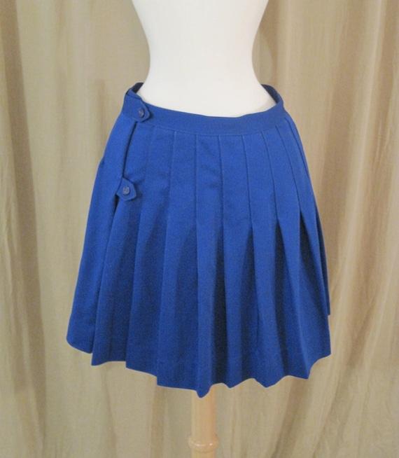 Vintage 80s Blue Cheerleader Skirt