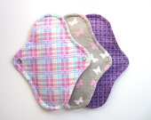 Sample Cloth Pad Try Me 3-Pack-- Mama Cloth Menstrual Pads Pocket Style