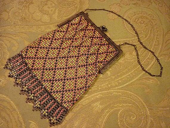 Antique Victorian Handbag - Whiting and Davis