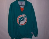 Vintage 1991 MIAMI DOLPHINS sewn thick Starter Pullover XXL