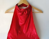 Superhero Cape Sparkle Red with Orange Lining