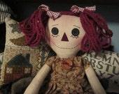 Raggedy Ann, little, primitive