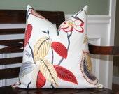 SALE - Decorative Pillow Cover- 20x20- printed cotton