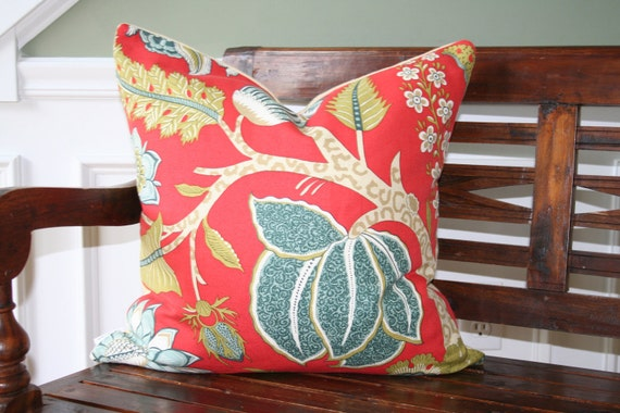 DECORATIVE PILLOW COVER- 20 x 20- Jaipur Tree by F. Schumacher