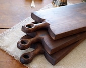 Walnut Rustic Serving Board - Wood Breadboard - Cutting Board - Wood Kitchenwares- Wedding Gift
