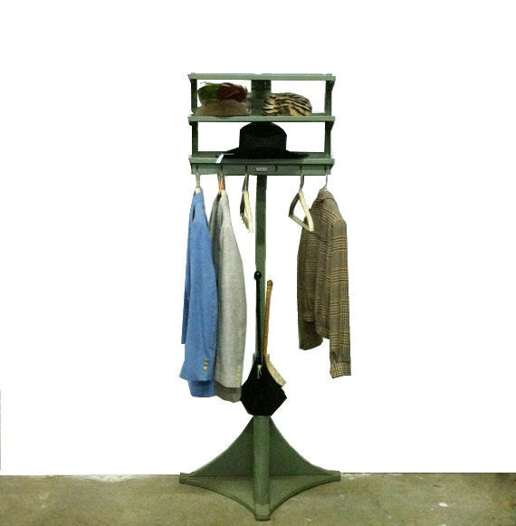 reserved office valet inustrial tubular steel coat rack. Black Bedroom Furniture Sets. Home Design Ideas