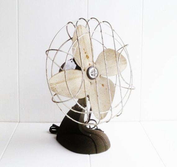 Fan Cast Iron Handy Breeze Vintage Working
