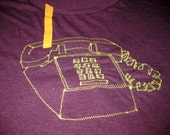 PHONE embroidered tee shirt in unisex S (special edition)