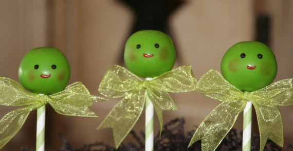 Mom's Killer Cakes & Cookies  Sweet Baby Peas Cake Pops Perfect For Baby Shower