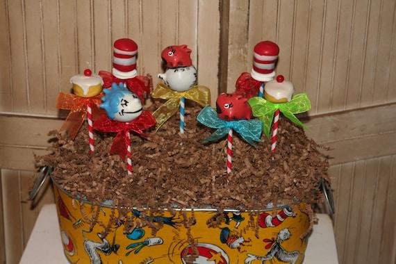 Mom's Killer Cakes & Cookies  Original Dr. Seuss Cat in the Hat Inspired Cake Pops Starring Karlos K. Krinklebein