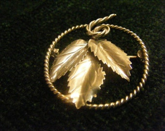 Hand Made Sterling Silver Leaf Cluster Pin