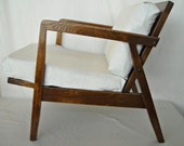 Reserved Danish Modern Lounge Chair Mid Century Oak