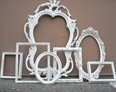 Vintage Frame Collection White Shabby Chic Cottage Gallery Wall