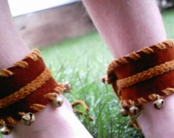 jingle.jangle.fairy -  Gypsy Ankle Bells on Deerhide