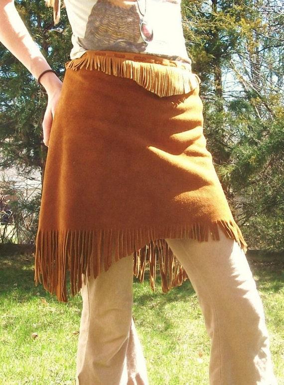 Made to Order Buckskin Wrap Skirt