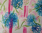 Unusual Hand Painted FLoral - Photographic Images to frame-Artist Signed and dated-Free Postage 1st class Europe
