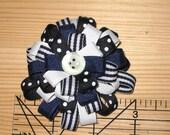 Sailor's Delight Loopy Flower Hair Bow