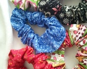 Colorful hair  scrunchies assortment