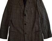 Vintage Armani for Neiman Marcus Black & Gray Plaid Blazer