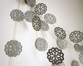 Gray Garland - Paper Garland - Winter Garland - Gray Decoration - Gray Clouds