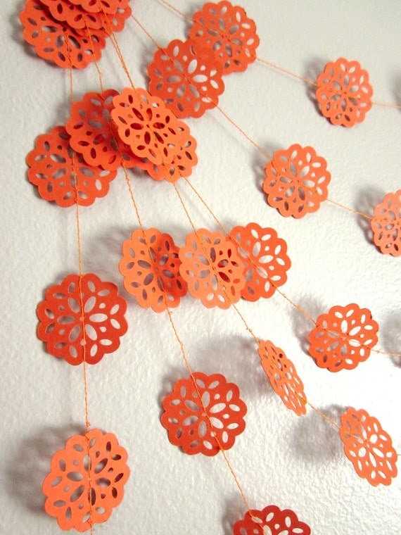 California Orange Garland - Autumn Garland - Paper Garland - Summer Garland