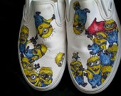 Despicable Me Minion Customized Vans Sneakers