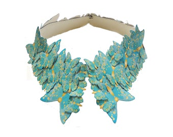 Peter Pan Collar Mint Butterfly Bridal