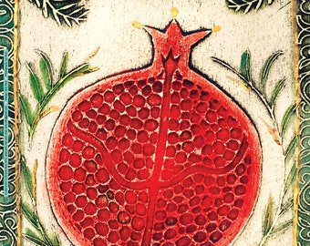 Poster of pomegranate