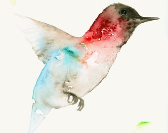 Hummingbirds Set of four Blank Greeting Cards