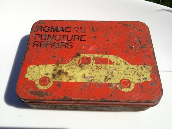 Vintage Puncture Repair Kit Tin