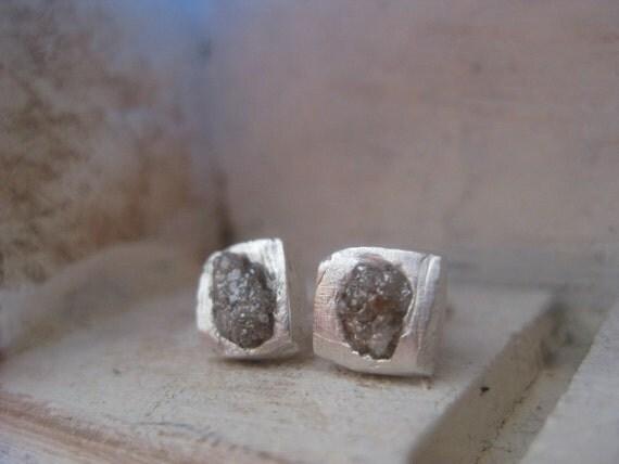 Raw Rough Diamond- Stud Earrings