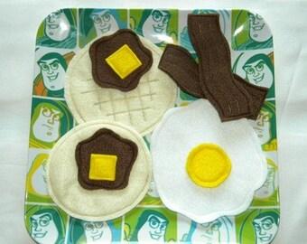 Felt Breakfast Set - Felt Food Eggs Bacon Pancakes